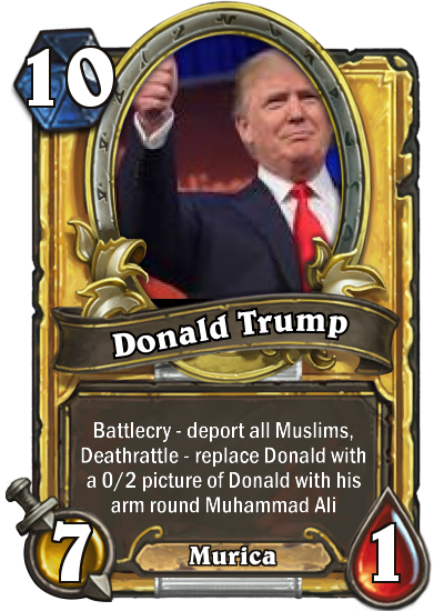 Trump Hearthstone Card