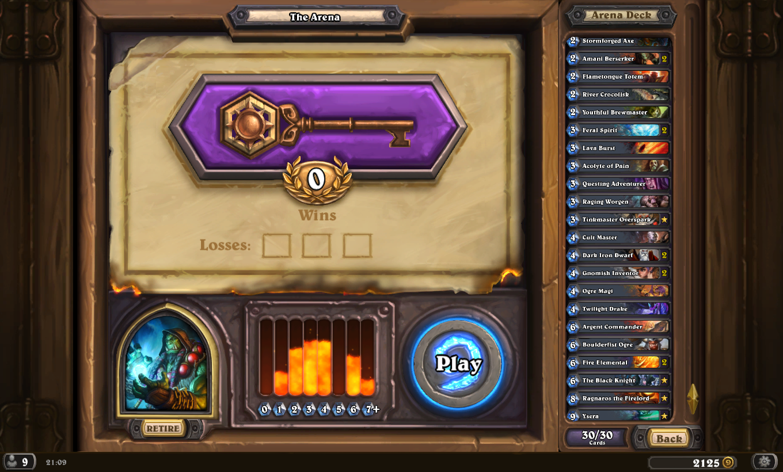 how to get legendaries in hearthstone arena