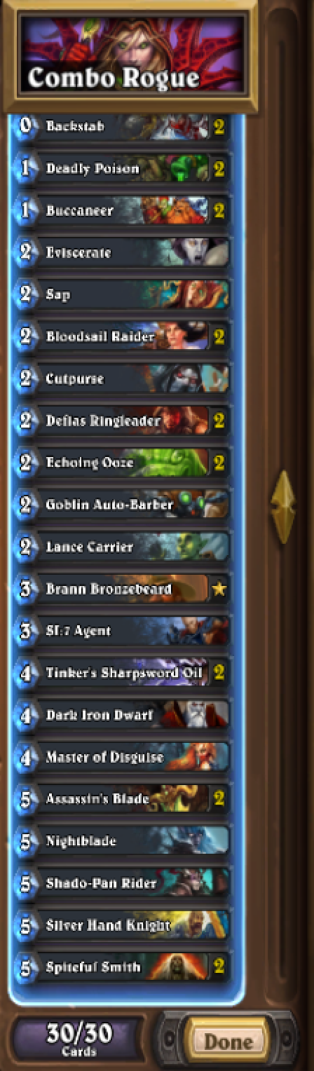 how to build a cheep rogue deck