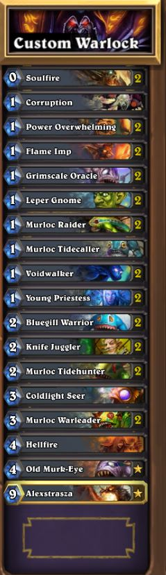 how to build a deck on hearthstone