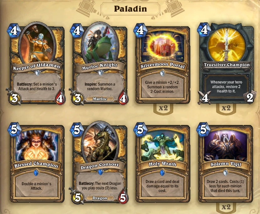 how to build a paladin deck hearthstone