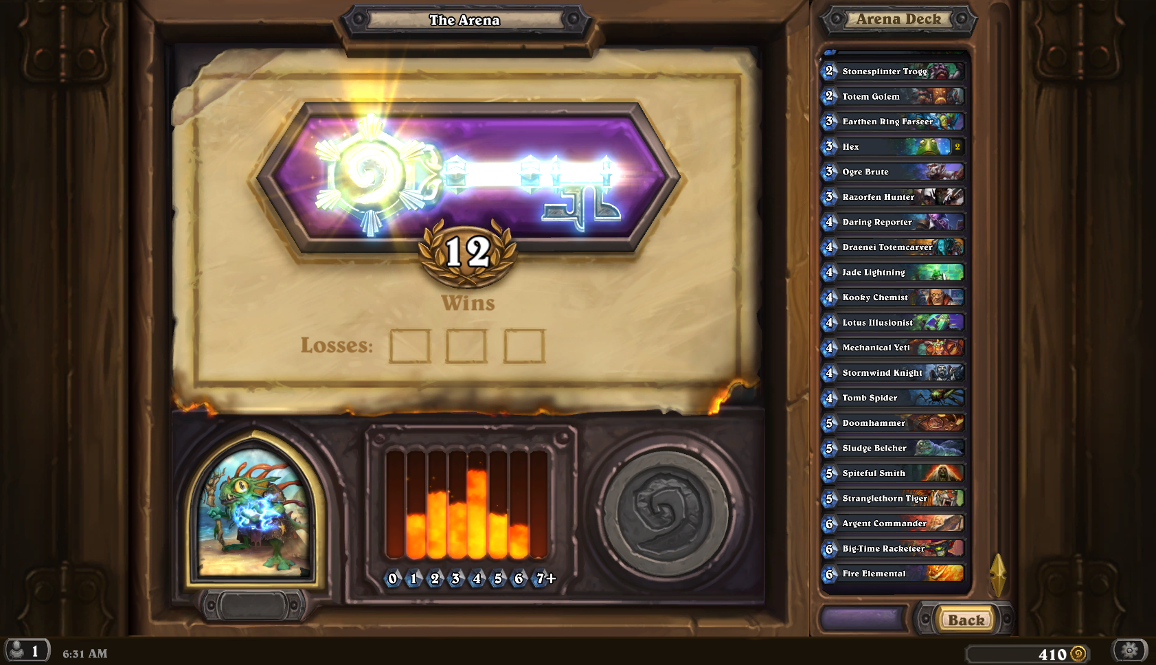 how to win arena hearthstone