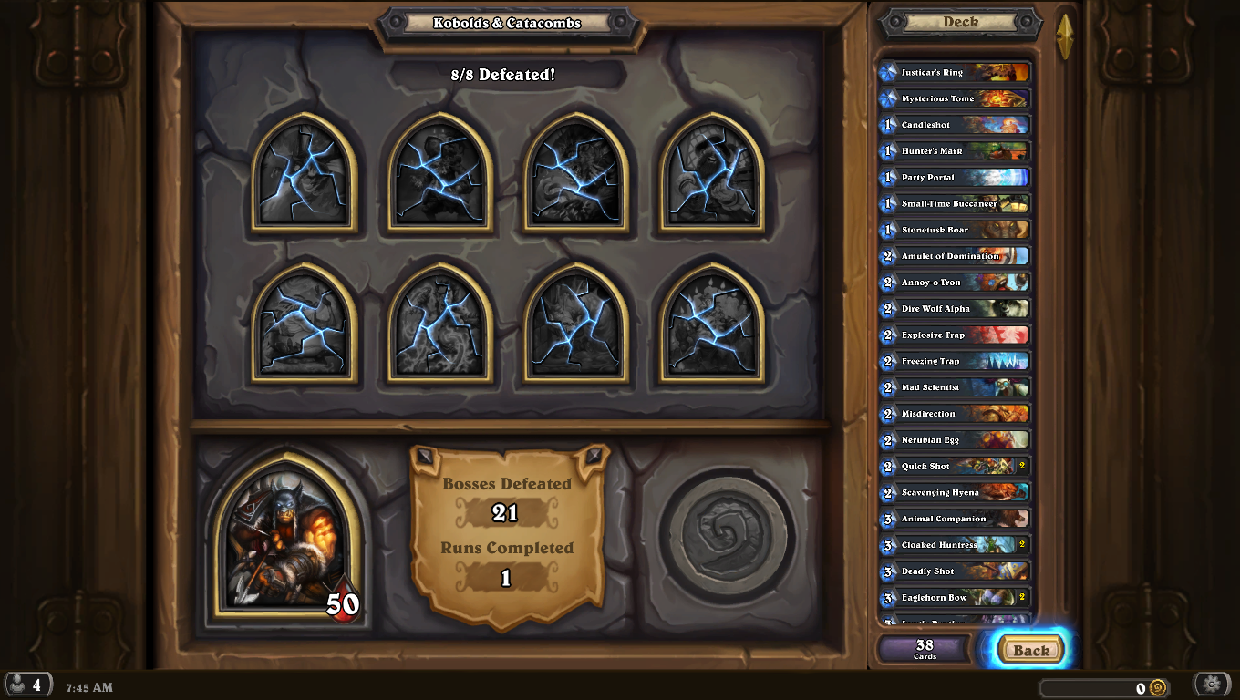 how to win hearthstone dungeon