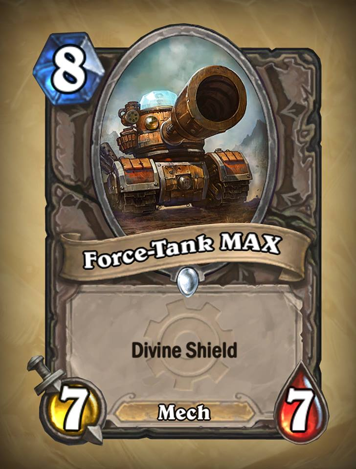 New Card: Force-Tank MAX - Card Discussion - Hearthstone