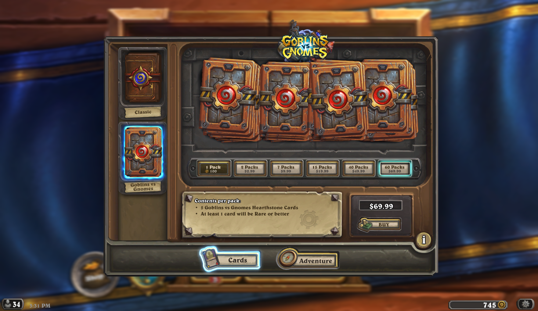 using amazon coins to buy hearthstone packs