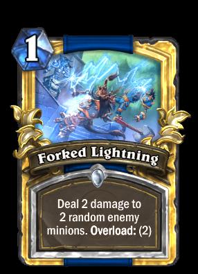 forked lightning hearthstone cards
