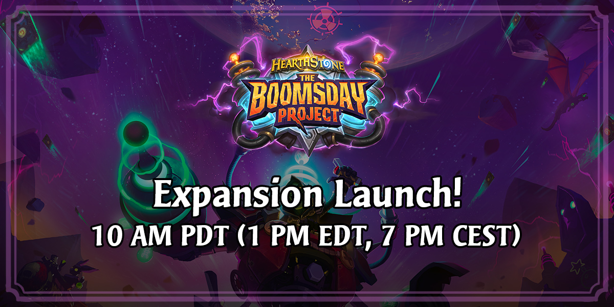 The Boomsday Project Launches Today Hearthstone Expansion