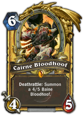 Neutral legendary card in Hearthstone.